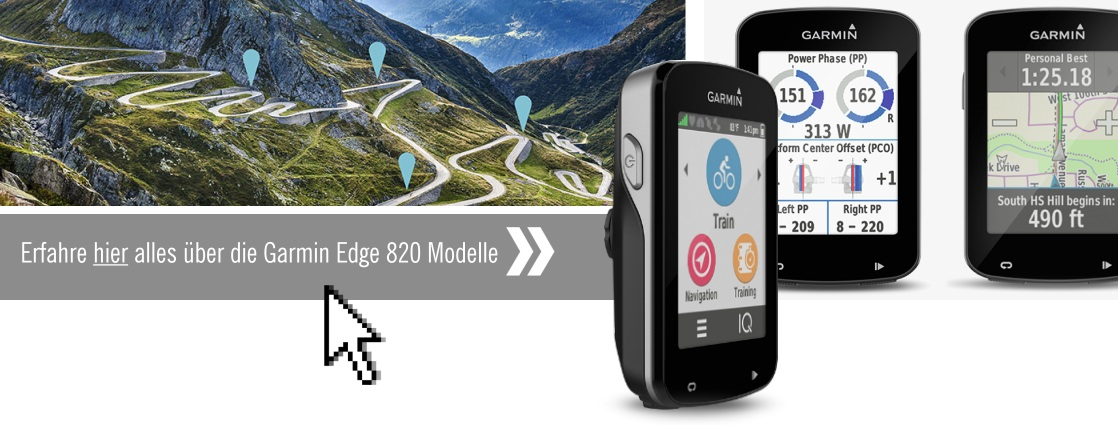 garmin edge 820 bundle gps radcomputer mit fahrradkarte europa speed cadence sensoren und. Black Bedroom Furniture Sets. Home Design Ideas