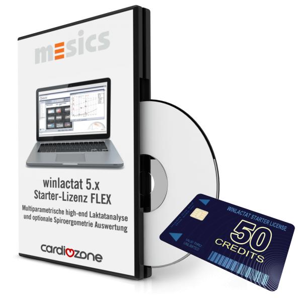 winlactat 5 Starterlizenz FLEX incl. 50 Tests - Laktatanalyse Software mit Spiroergometrie Anschluss bei CardioZone