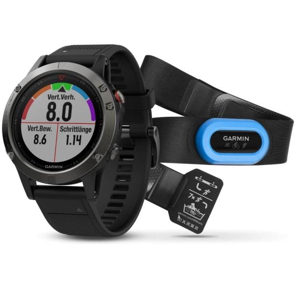 Sportelektronik Garmin Fenix 3 HR Saphir Performer Bundle Grau günstig kaufen Fitness & Jogging