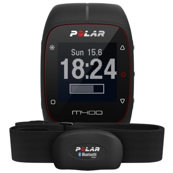 polar m400 hr schwarz gps sport pulsuhr mit bluetooth. Black Bedroom Furniture Sets. Home Design Ideas