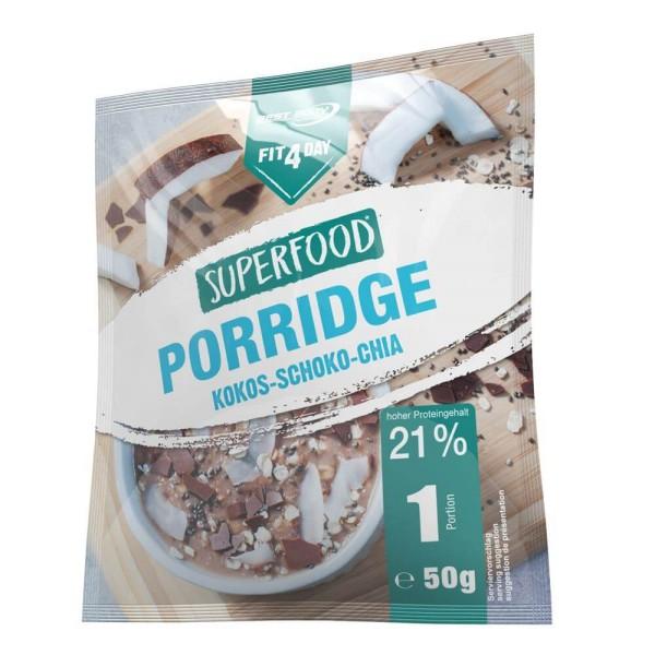 Fit4Day Superfood Porridge 5x 50 g Beutel Kokos-Schoko-Chia bei CardioZone günstig online kaufen
