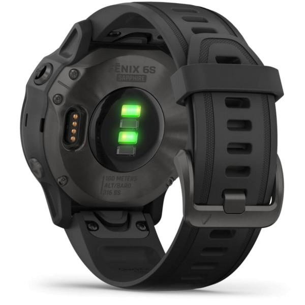 Garmin fenix6S SAPHIR Schwarz - Armband Schwarz bei CardioZone günstig online kaufen