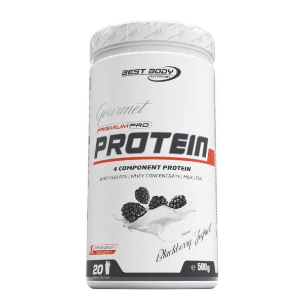 Best Body Gourmet Premium Pro Protein - Blackberry Yoghurt - 500 g Dose bei CardioZone günstig online kaufen