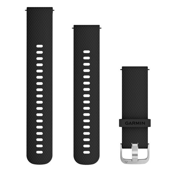 Garmin Schnellwechsel-Armband 20mm schwarzes Silikonarmband bei CardioZone guenstig online kaufen