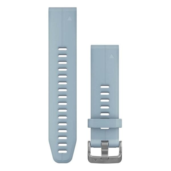 Garmin Quickfit 20mm Silikon-Armband Azurblau / Silber Gr. M für fenix 5S bei CardioZone guenstig online kaufen