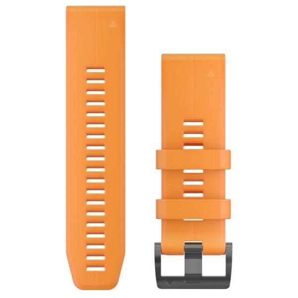 Garmin Quickfit 26mm Silikon-Armband Orange / Schwarz Gr. M bei CardioZone guenstig online kaufen