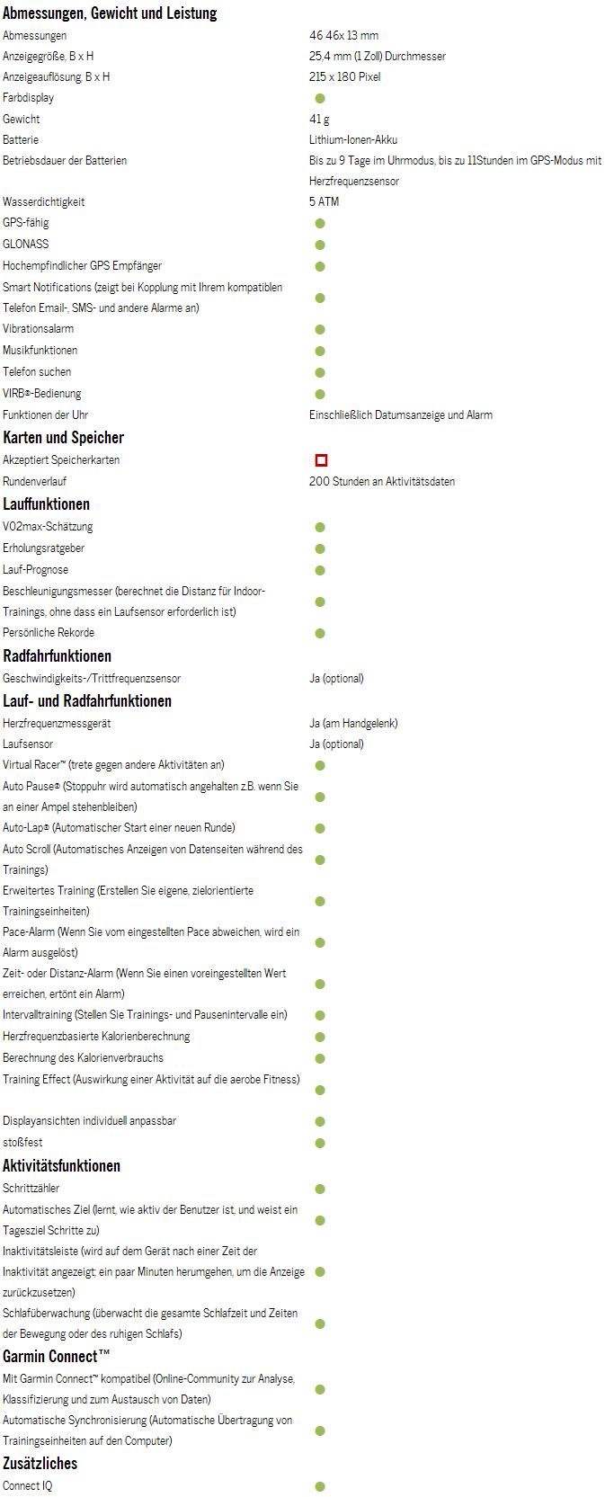 Tabelle-Garmin-Forerunner235-technische-Daten-01