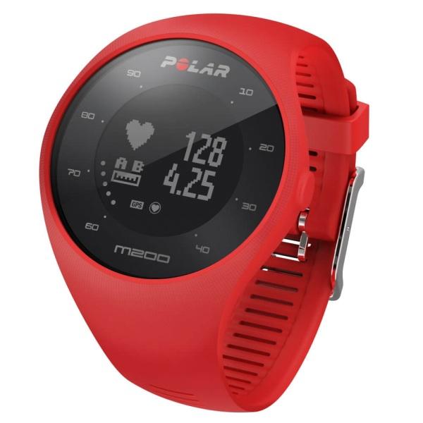 POLAR M200 GPS Lauf Pulsuhr in rot mit Pulsmessung am Handgelenk bei CardioZone guenstig online kaufen
