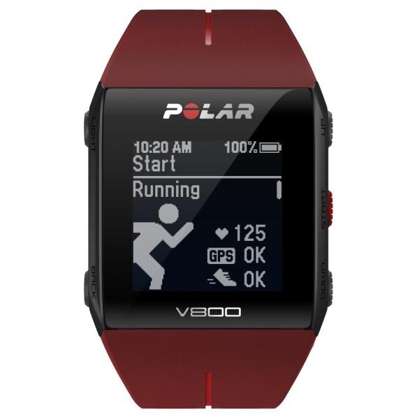 POLAR V800 HR Special Edition rot mit viel Zubehör jetzt bei CardioZone guenstig bestellen