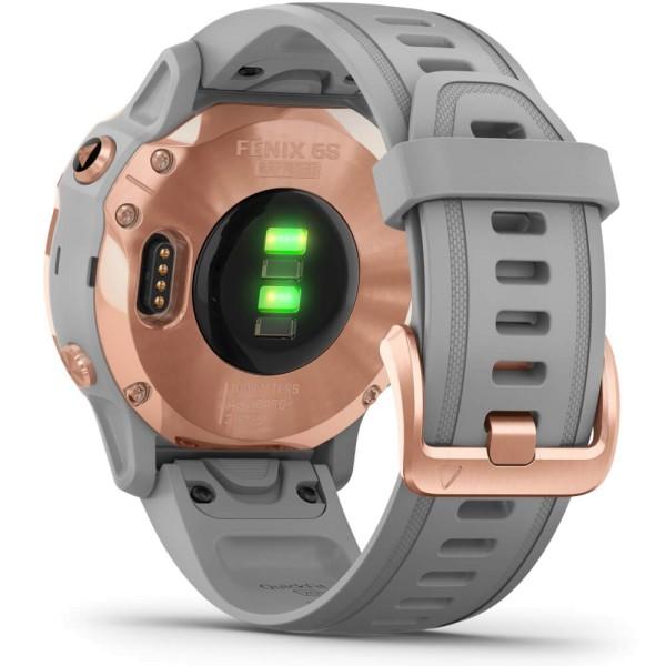 Garmin fenix6S SAPHIR Rosegold - Armband Grau bei CardioZone günstig online kaufen