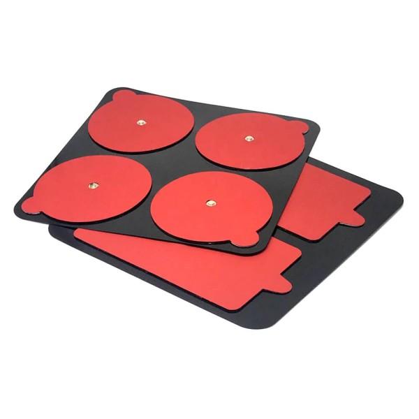 PowerDot Gen 2.0 Elektroden Pads Rot - Packung m. 2 rechteckigen u. 4 runden Pads bei CardioZone online kaufen