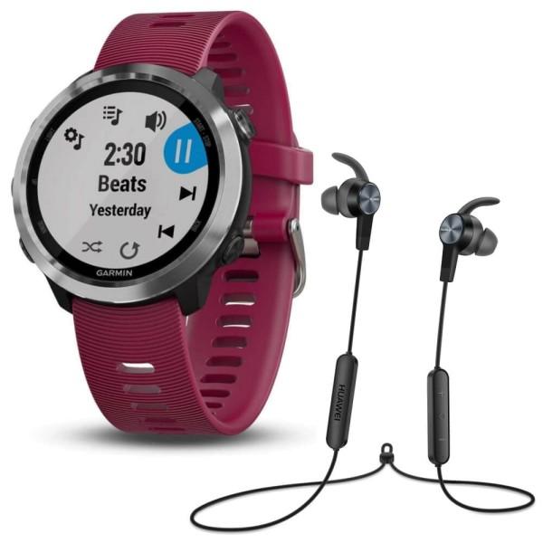 Garmin Forerunner 645 Music kirschrot/ silber mit Gratis Huawei AM61 Kopfhörer exklusive bei CardioZone