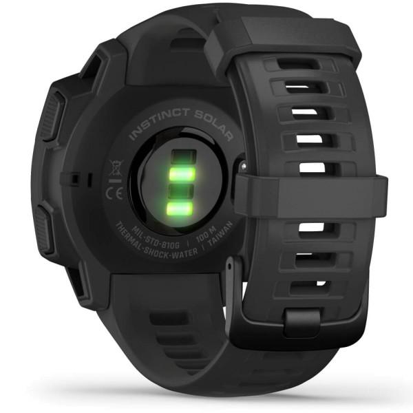 Garmin Instinct SOLAR Tactical Outdoor Smartwatch Schwarz bei CardioZone online kaufen