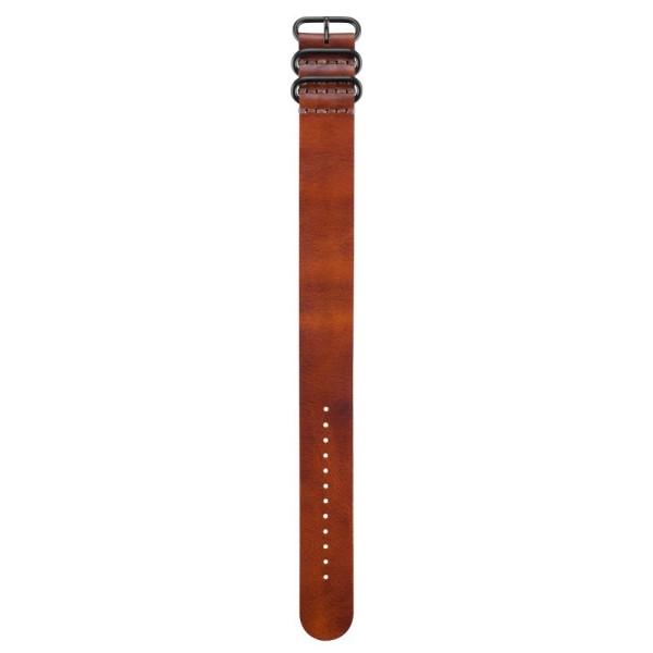 Garmin fenix 3 Durchzugs-Armband Leder Braun