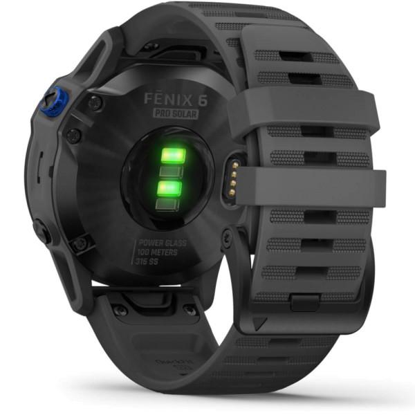Garmin fenix6PRO SOLAR Schwarz - Armband Schiefergrau bei CardioZone günstig online kaufen