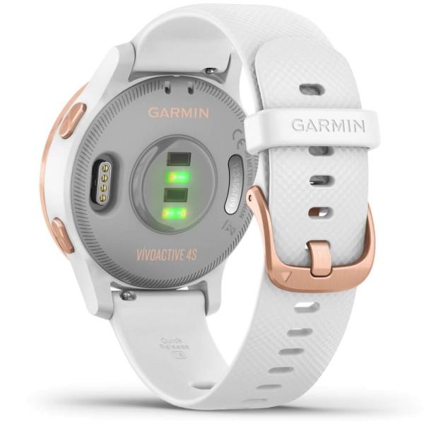 Garmin vivoactive 4S GPS-Multisport-Smartwatch in Weiß/Rose-Gold bei CardioZone günstig online kaiufen