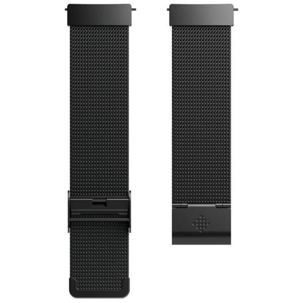 Fitbit Versa Metallarmband Schwarz - geflochtener Edelstahl - bei CardioZone guenstig online kaufen