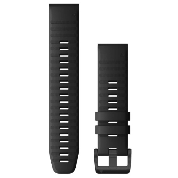 Garmin Quickfit Silikon Armband 22mm Schwarz / Schnalle in Schiefergrau für fenix 6 bei CardioZone günstig online kaufen