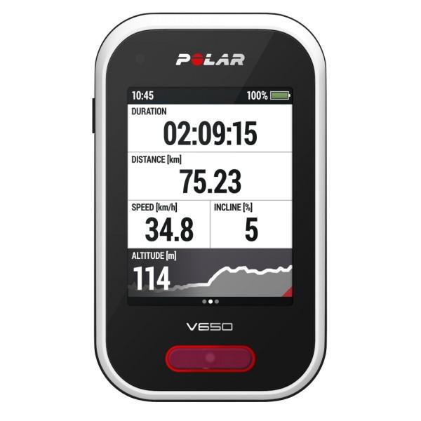 POLAR V650 GPS Radcomputer mit Touchscreen jetzt guenstig bei CardioZone online bestellen