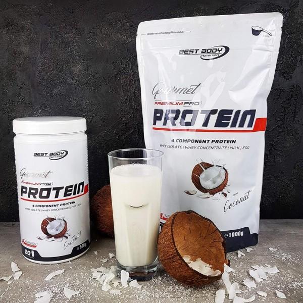 Best Body Gourmet Premium Pro Protein - Coconut - 500 g Dose bei CardioZone günstig online kaufen