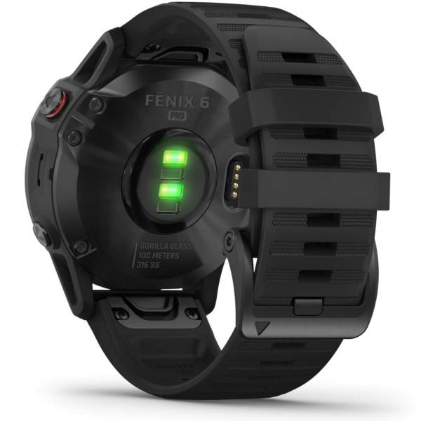 Garmin fenix6 PRO Schwarz - Armband Schwarz bei CardioZone günstig online kaufen