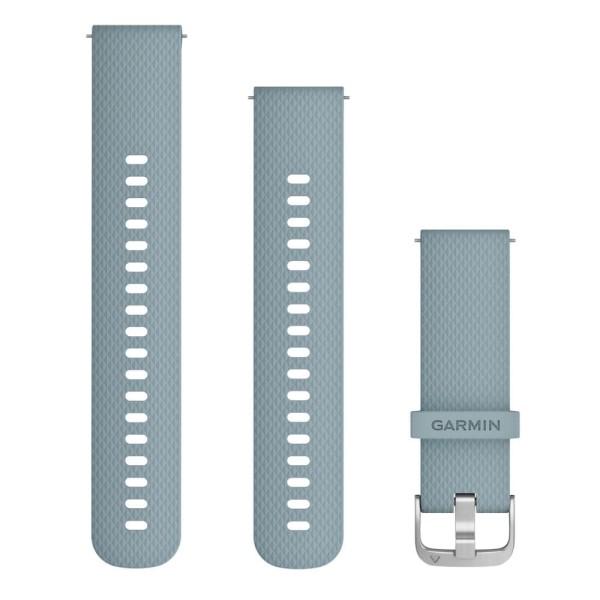 Garmin Schnell-Wechsel 20mm Silikon-Armband Blau-Grün / Schnalle Silber bei CardioZone günstig online kaufen