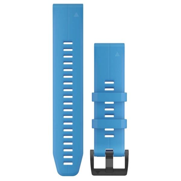 Garmin Quickfit 22mm Silikon-Armband Cyan Blau / Schwarz Gr. M bei CardioZone guenstig online kaufen