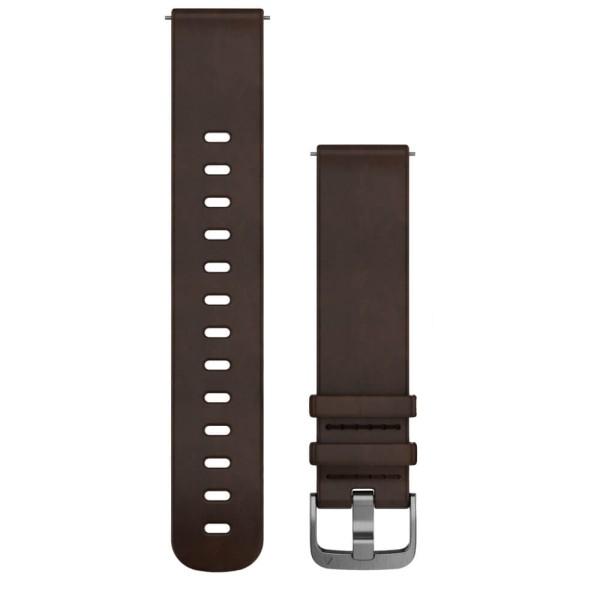 Garmin Schnellwechsel-Armband 20mm dunkelbraunes Lederarmband bei CardioZone günstig online kaufen