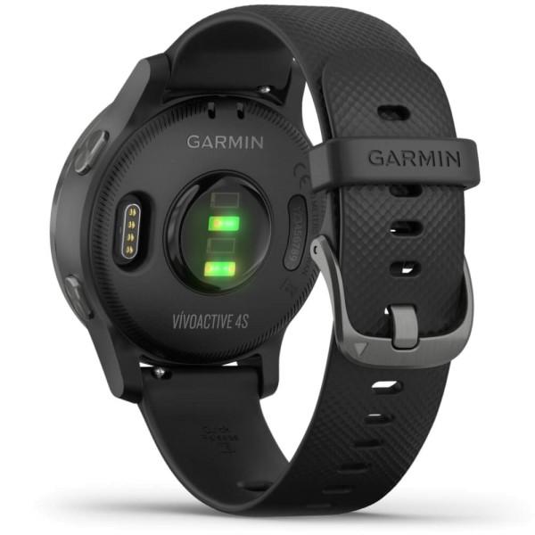 Garmin vivoactive 4S GPS-Multisport-Smartwatch in Schwarz/Schiefergrau bei CardioZone günstig online kaiufen