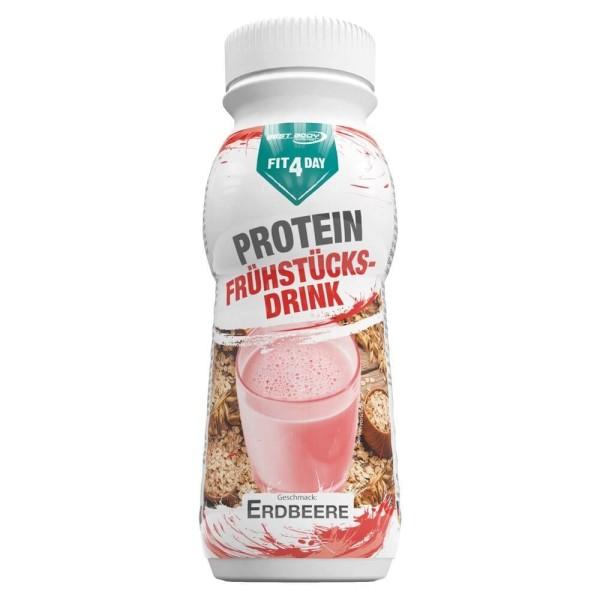 Fit4Day Protein Frühstücksdrink Erdbeere - 8 x 250 ml PET Flasche bei CardioZone günstig online kaufen