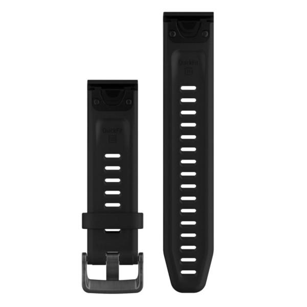 Garmin Quickfit 20mm Silikon-Armband Schwarz / Schwarz Gr. M für fenix 5S bei CardioZone guenstig online kaufen