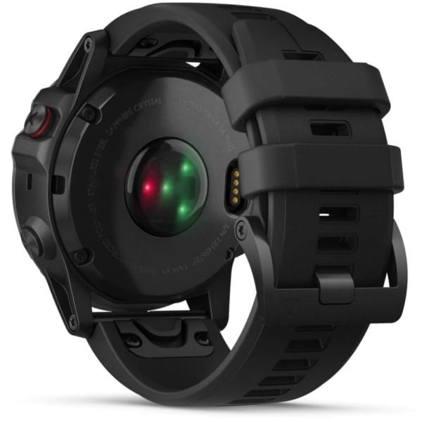 Garmin fenix5X Plus Saphir Schwarz  GPS Multisportuhr mit Pulsoximeter und schwarzem Armband bei CardioZone guenstig online kaufen