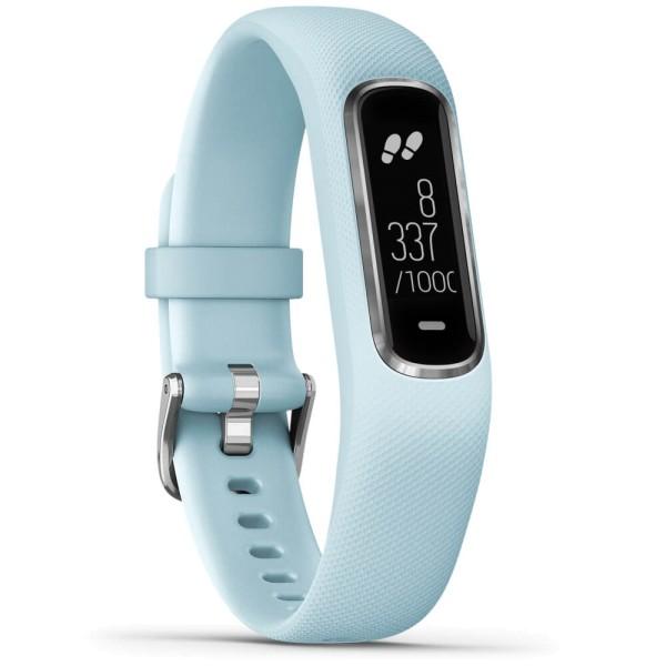 Garmin vivosmart 4 Fitness-Tracker Hellblau/Silber Größe S-M bei CardioZone guenstig online kaufen