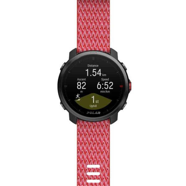 POLAR GRIT X 22mm Wechselarmband Rot PET Gewebt - Größe S bei CardioZone günstig online kaufen