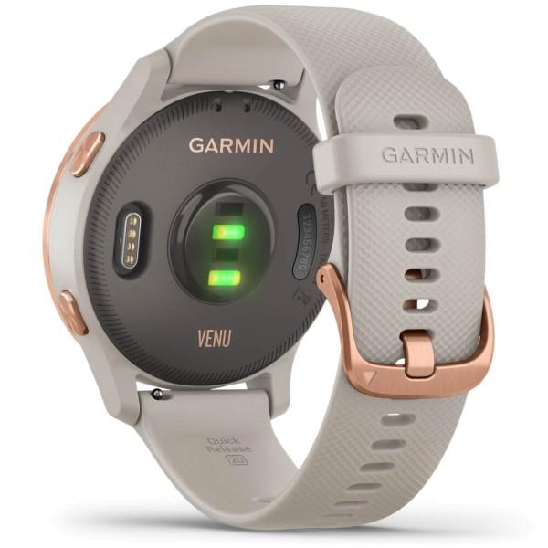 Garmin VENU Beige/Rosegold GPS-Smartwatch mit brilliantem AMOLED-Display bei CardioZone günstig online kaufen