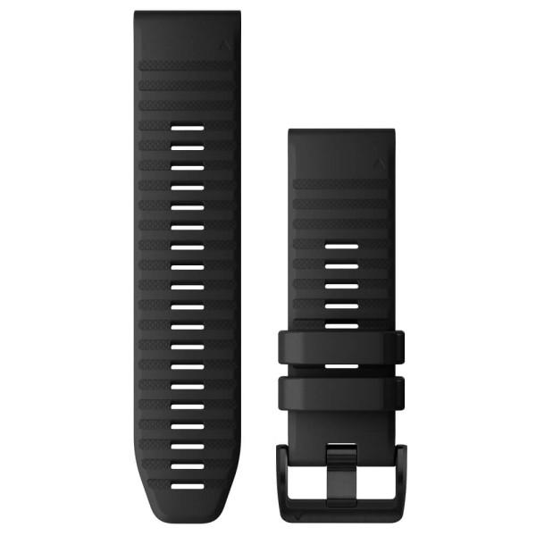 Garmin Quickfit Silikon Armband 26mm Schwarz / Schnalle in Schiefergrau für fenix 6X bei CardioZone günstig online kaufen
