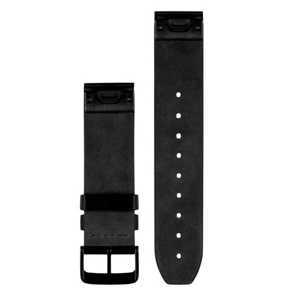 Garmin Quickfit 22mm Leder-Armband Schwarz / Schnalle in Schwarz bei CardioZone günstig online kaufen