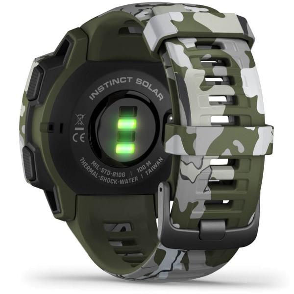Garmin Instinct SOLAR Outdoor Smartwatch Camo, Grün bei CardioZone online kaufen