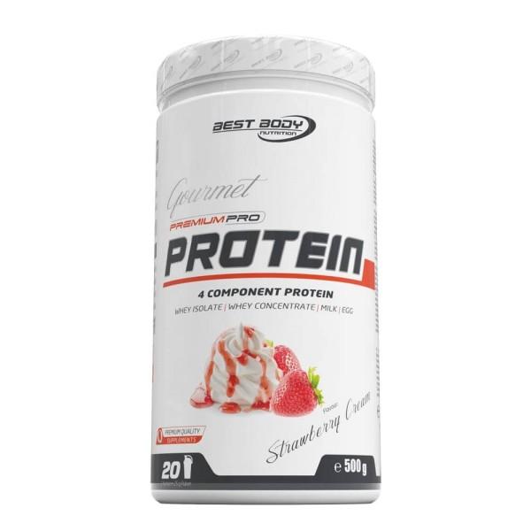 Best Body Gourmet Premium Pro Protein - Strawberry Cream - 500 g Dose bei CardioZone günstig online kaufen