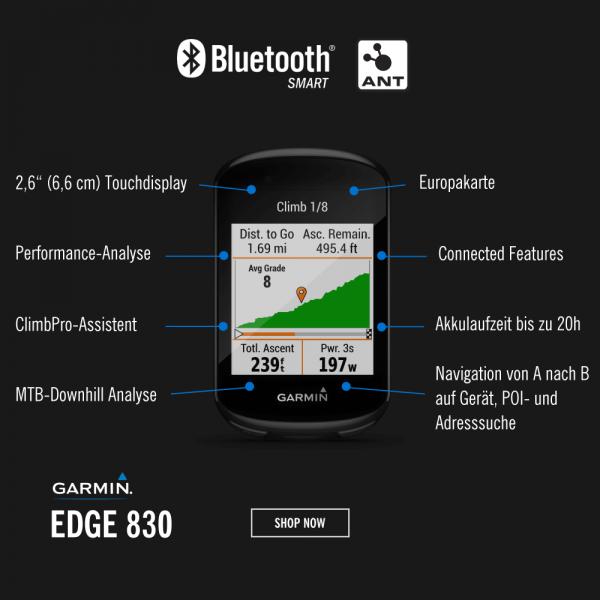 Garmin Edge 830 - GPS Radcomputer bei CardioZone entdecken und günstig online kaufen