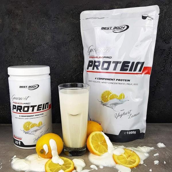 Best Body Gourmet Premium Pro Protein - Yoghurt Lemon - 500 g Dose bei CardioZone günstig online kaufen