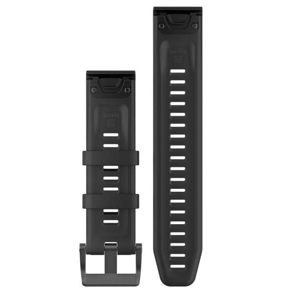 Garmin Quickfit 22mm Silikon-Armband Schwarz / Schwarz Gr. M bei CardioZone guenstig online kaufen
