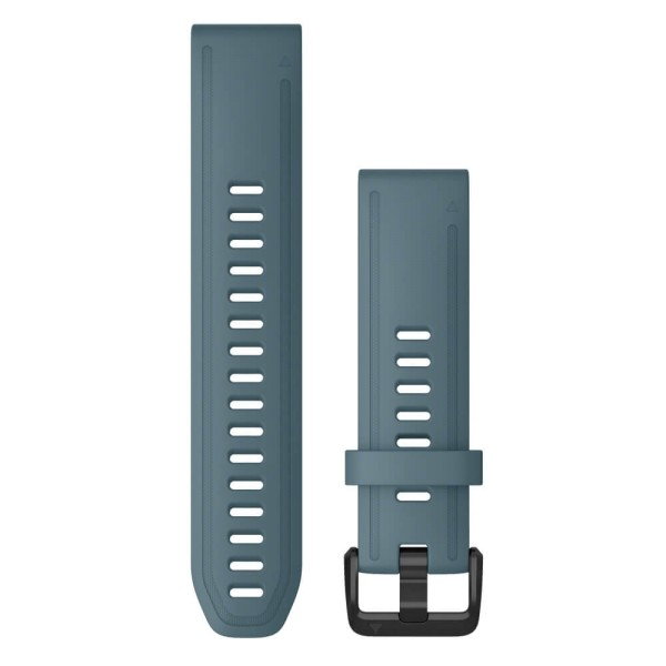 Garmin Quickfit Silikon Armband 20mm Blau / Schnalle in Schiefergrau für fenix 6S bei CardioZone günstig online kaufen