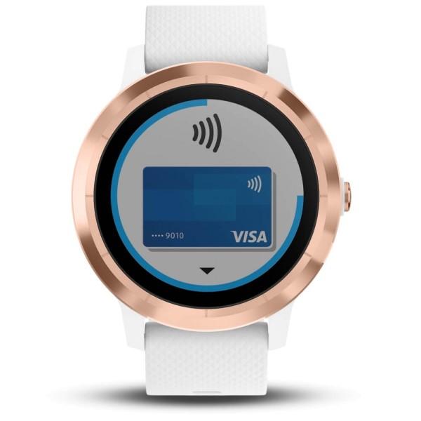 Garmin vivoactive 3 Music Weiß/Rosegold GPS-Smartwatch mit integriertem Musikplayer bei CardioZone günstig online kaufen