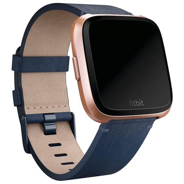 Fitbit Versa Lederarmband Dunkelblau bei CardioZone guenstig online kaufen