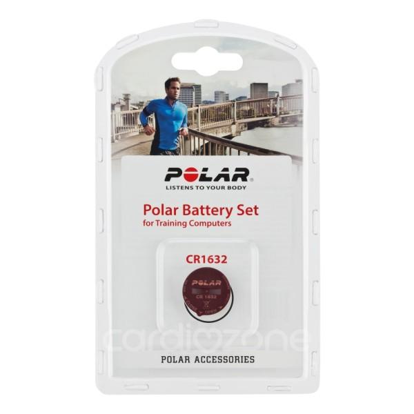 POLAR Batterie-Set CR1632 für FT4 und FT7 Fitness Pulsuhren - mit Deckel + Dichtung