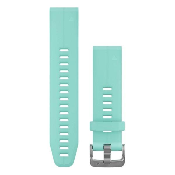 Garmin Quickfit 20mm Silikon-Armband Frostblau / Silber Gr. M für fenix 5S