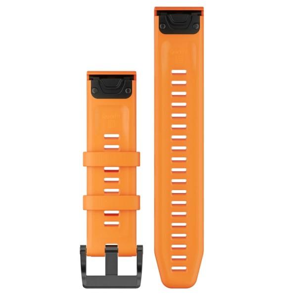 Garmin Quickfit 22mm Silikon-Armband Orange / Schwarz Gr. M bei CardioZone guenstig online kaufen