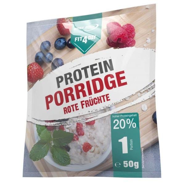 Fit4Day Protein Porridge 5x 50 g Beutel Rote Früchte bei CardioZone günstig online kaufen