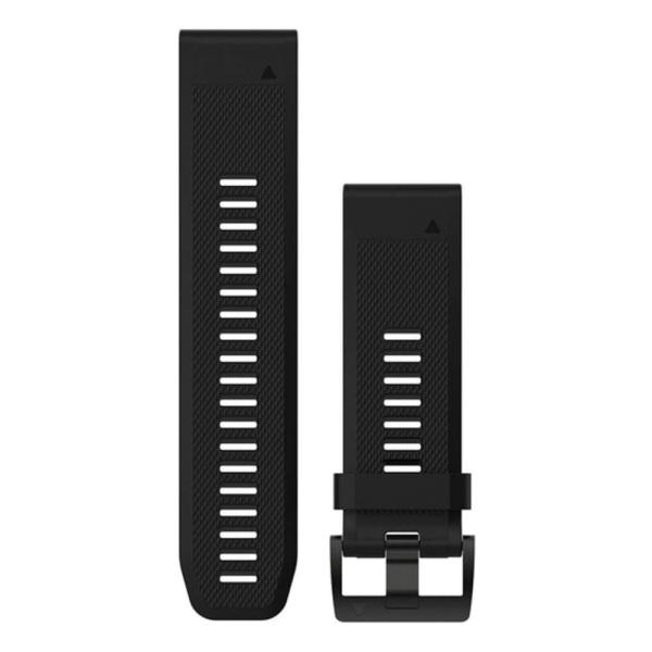 Garmin fenix 5X QuickFit Silikon Armband in schwarz und 26mm Breite bei CardioZone guenstig online kaufen - passend auch für Garmin fenix 3